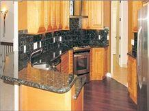 Volga Classic Granite Backsplash, Volga Blue Granite Kitchen Countertops