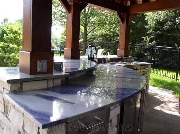Azul Imperial Quartzite Countertop From United States