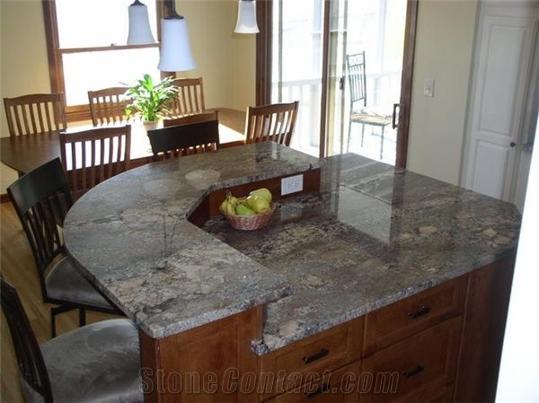 Juparana Crema Bordeaux Granite Countertop