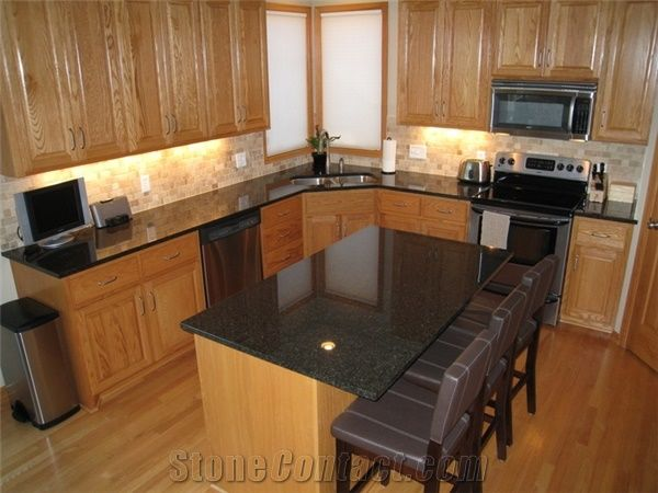 Opalescence Granite Kitchen Island