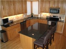 Opalescence Granite Kitchen Island Countertops, Opalescence Black Granite Countertops