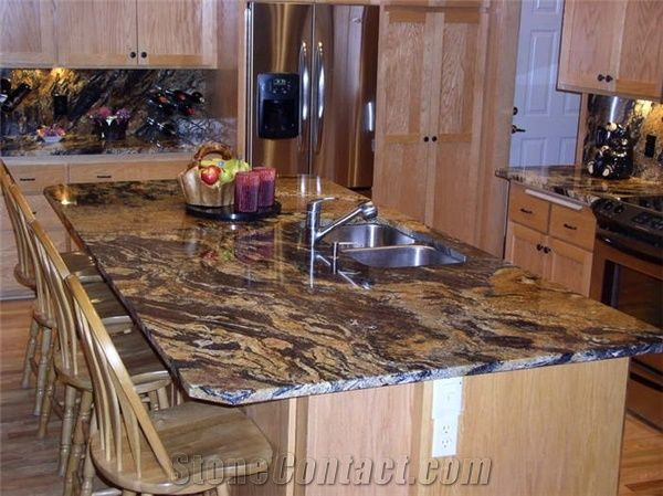 Sedna Gold Granite Kitchen Countertop From United States