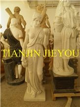 Life Size Marble Carving Nude Statues Women, White Marble Statues