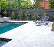 Victorian Bluestone Pool Deck Pavements, Grey Blue Stone