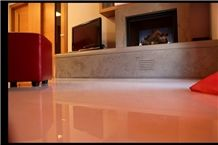 Grigio Oriente Limestone Fireplace
