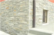 Mint White Sandstone Stacked Stone, Cultured Stone, Wall Cladding