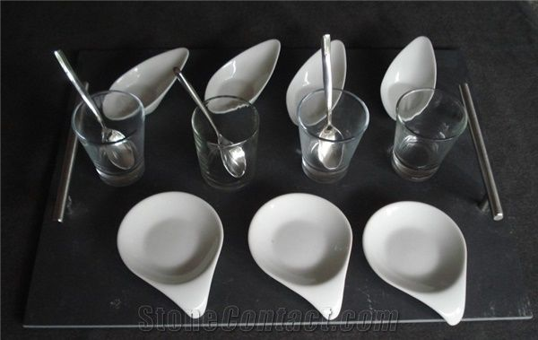 Slate Appetizer Set Black Slate Tray Kitchen Accessories From China Stonecontact Com