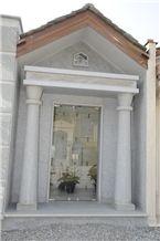 Pietra Di Cogne Quartzite Mausoleum, Columbarium, Pietra Di Cogne Grey Quartzite Columbarium