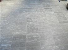 Pietra Di Cogne Quartzite Polished Floor Tiles, Italy Grey Quartzite