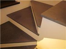 Pietra Di Cogne Quartzite Stairs, Pietra Di Cogne Grey Quartzite Stairs