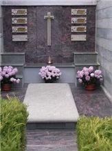 Pietra Di Cogne Quartzite Tombstone, Pietra Di Cogne Grey Quartzite Tombstone