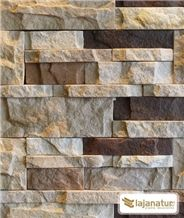 Sandstone Stacked Wall Panels, Arenisca Dune Beige Sandstone Cultured Stone