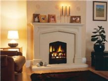 Beige Sandstone the Chiswick Frireplace, Wattscliffe Beige Sandstone Fireplace