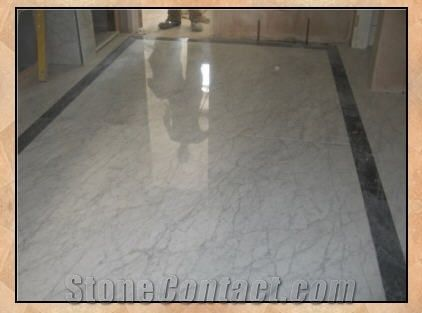 Bianco Carrara Marble Floor Tiles Italy White Marble From