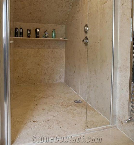 Jura Beige Limestone Bathroom Floor Tiles Wall Tiles From