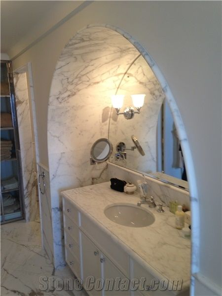 Bianco Carrara A Marble Bathroom Top From United Kingdom