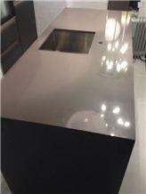 Compac Dim Grey Quartz Kitchen Worktop