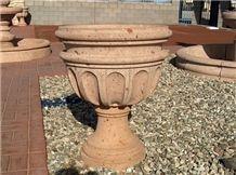 Planter Pots, Cantera Stone Pots, Cafe Alhambra Cantera Gitana Pots,Copa Pots