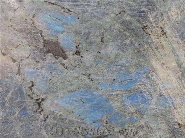 Labradorite Granite Tile Madagascar Blue Granite