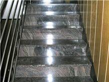 Silver Paradiso Granite Stairs