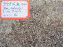 Royal Champagne Granite Slabs & Tiles, China Brown Granite