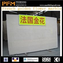 French Golden Flower Marble Tiles and Slabs Yellow Marble