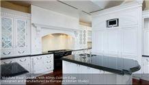 Absolute Black Granite Countertop with 60mm Custom Edge