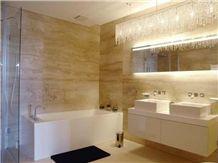 Travertino Romano Classico Bathroom Design, Travertino Classico Beige Travertine Bathroom Design