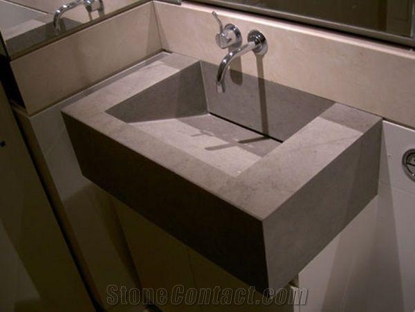 Tala Marron Sink With Hidden Drain System Pietra Medea