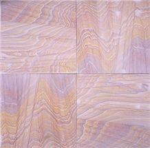 Rainbow Sandstone Lightly Honed Surface Finish Pavers