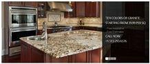 Delicatus Gold Granite Kitchen Island, Countertop, Delicatus Gold Yellow Granite Countertop