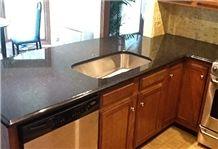 Virginia Mist Granite Countertop with Drop in Sink, Virginia Mist Black Granite Countertop