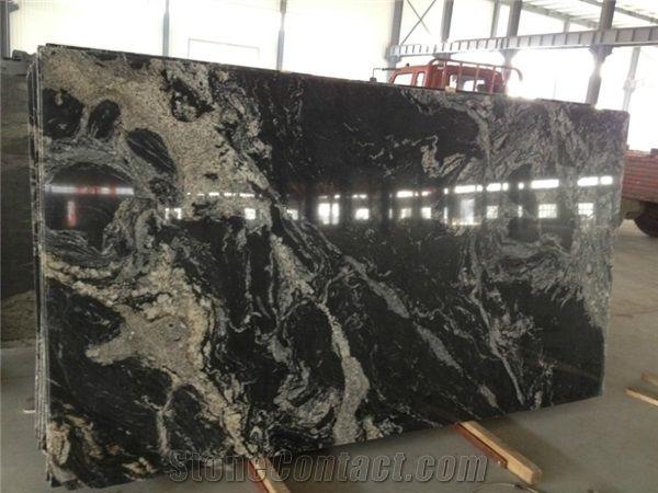 China Cosmos Black Granite Black Granite With White Veins