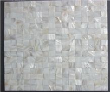 White Sea Shell Mother Pearl Brick Mosaic Pattern Tiles for Bathroom Flooring,Kitchen Wall Decoration