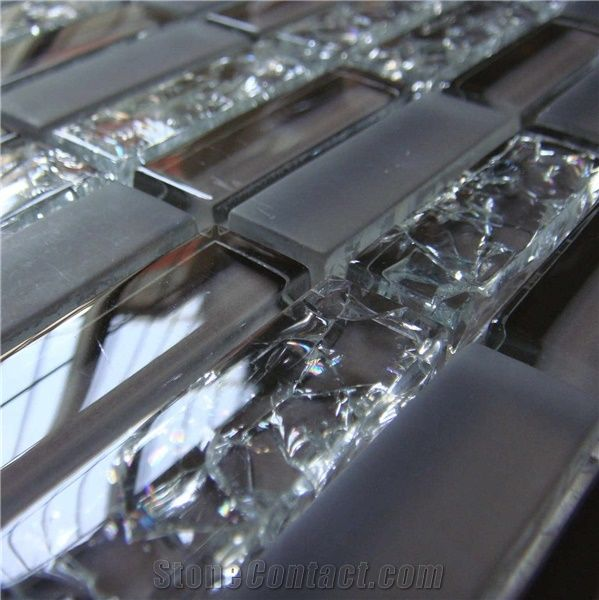 Ice Crack Glass Mosaic Tile Hcm X 024 From China