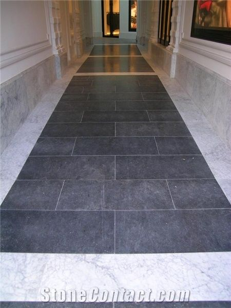Belgian Blue Stone Bianco Carrara Marble Flooring From