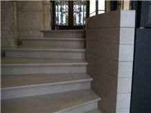 Comblanchien Clair Limestone Stairs, Comblanchien Clair Beige Limestone Stairs