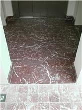 Rouge Griotte Marble Floor Tiles, Belgium Rouge Griotte Belge