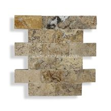 Splitface Travertine Mosaic Model 309