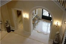 Marble Inlay Entrance Foyer Design