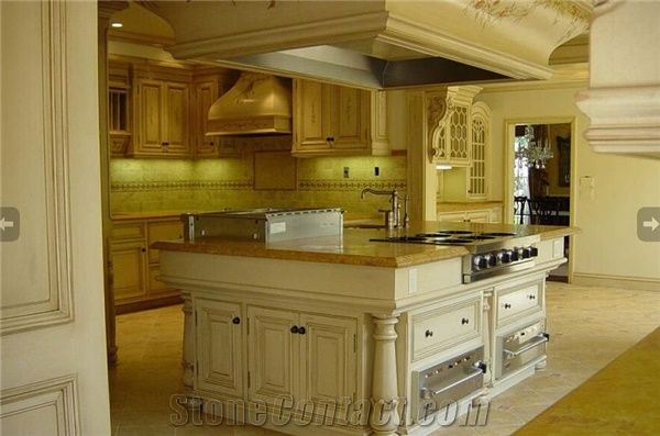 Spanish Gold Marble Kitchen Countertop from United States ...