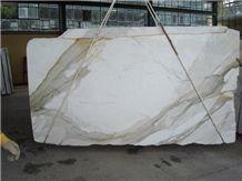 Italian Calacatta Gold Slabs & Tiles, Italy White Marble