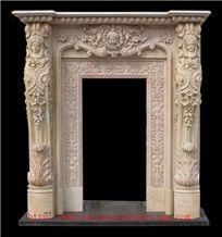 China Beige Limestone Window Frame
