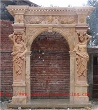 China Gold Limestone Door Frame