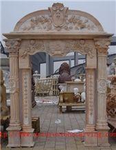 HN Pink Marble Carved Door Frames