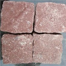 Red Porphyry Granite Paving Cube Stone