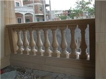 Yellow Sandstone Balustrade Railing