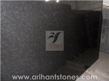 Black Pearl Granite Slab, India Black Granite