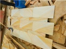 Yellow Wooden Sandstones Slabs & Tiles