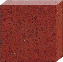 Elegant Red Galaxy Quartz Stone Slab, Sparkle Quartz Tile for Floor